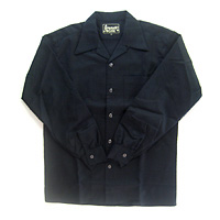 OPEN COLLAR SHIRT トビー柄 BLK